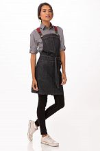 Berkeley Women's Petite Bib Apron Indigo Denim [ABS01WIBL]