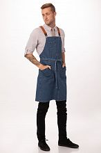 Berkeley Bib Apron Medium Blue [ABS01MDB]
