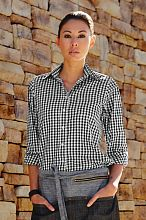Womens Black Gingham Dress Shirt [W500BWC]