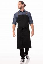 Berkeley Chefs Bib Apron Jet Black Cotton [ACS01JBK]